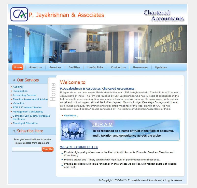 P Jayakrishnan Associates CA - Micro Orange